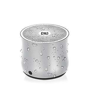 EWA A2Pro Bluetoothスピーカー 防水【IPX6防水仕様・強化された低音・コンパクト設計・マイク内蔵】お風呂/キッチン/アウトドア対応 (シルバー)