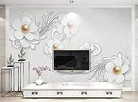Yosot カスタム3D壁紙リビングルーム寝室壁ジュエリーフラワーテレビの壁装飾壁壁3D-300Cmx210Cm