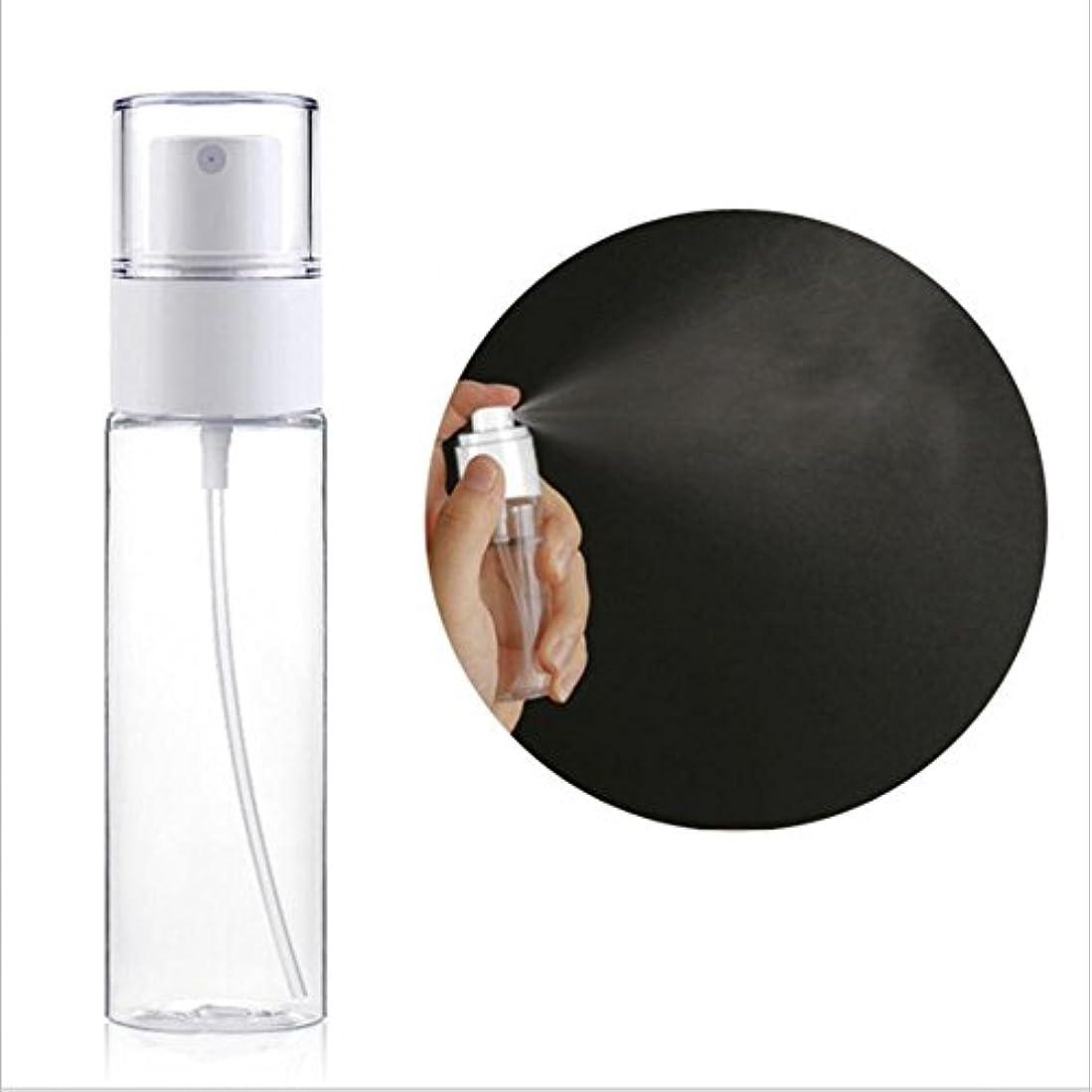画面省抗議プラスチックスプレーボトル、50ml ポータブル 透明スプレーメイクアップスプレーボトル 香水、ローション、トナーなどに適用