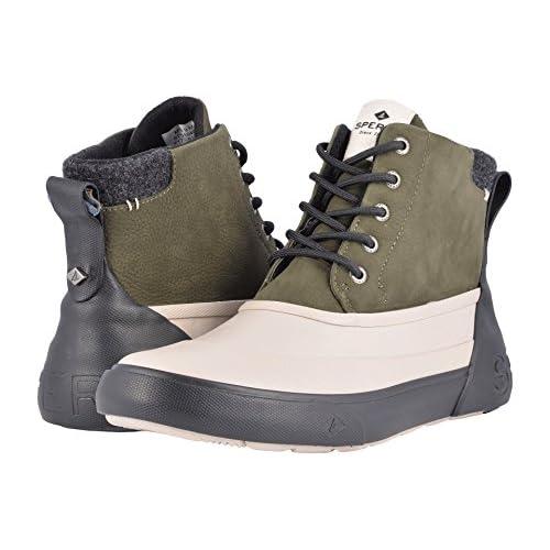 スペリー シューズ ブーツ&レインブーツ Cutwater Deck Boot Olive/Tan [並行輸入品]
