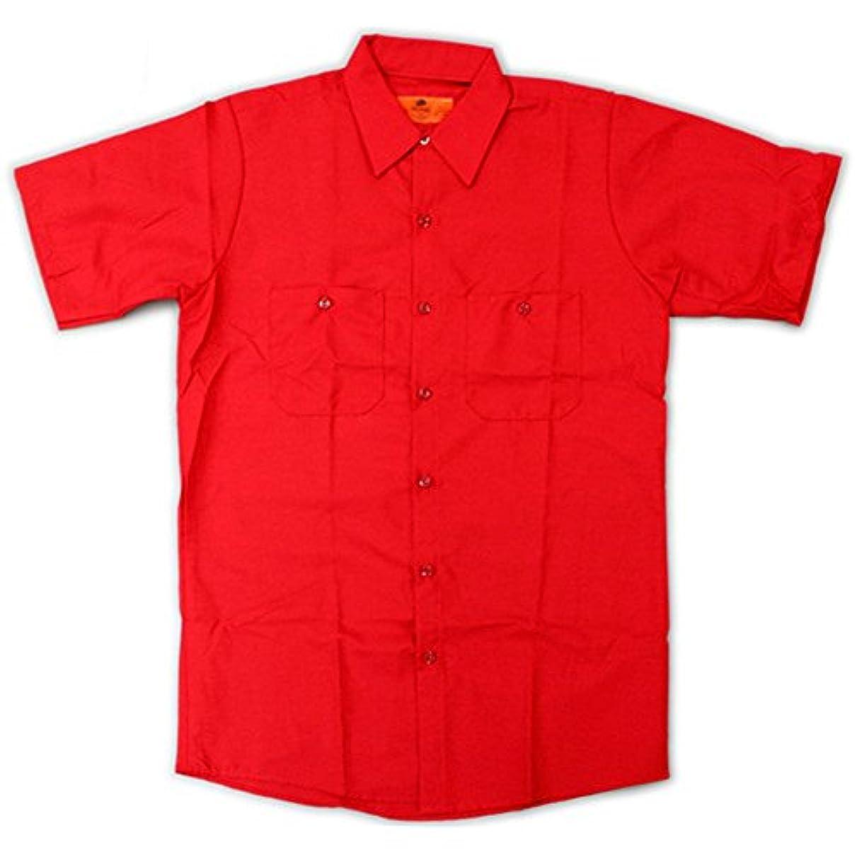 非常に怒っています行動クリエイティブRED KAP(レッドキャップ)/SHORT SLEEVE SOLID WORK SHIRTS(半袖ソリッドワークシャツ) L RD:レッド(Red)
