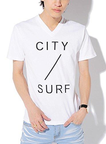 QホワイトCITY M (ベストマート)BestMart 美シルエット 選べる ロゴ プリント Vネック Uネック Tシャツ カットソー 半袖 星柄 文字 メンズ おしゃれ デザイン ボックス 半袖Tシャツ Tシャツ半袖 半でそ ティーシャツ U首 クルーネック 細身 スリム ストリート アメカジ サーフ アメカジ 622127-005-963