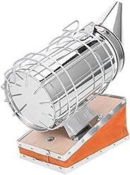 養蜂喫煙者、ステンレス鋼+牛革牛革革ステンレス鋼、保護カバー蜂装置付き、火傷を効果的に防止