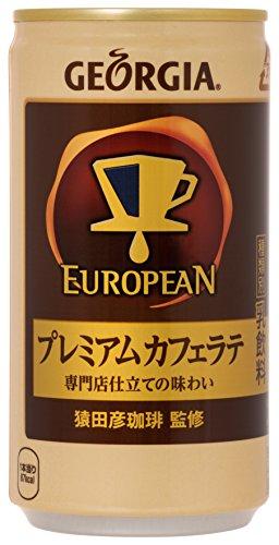 コカ・コーラ ジョージア ヨーロピアン プレミアムカフェラテ 185g缶×30本