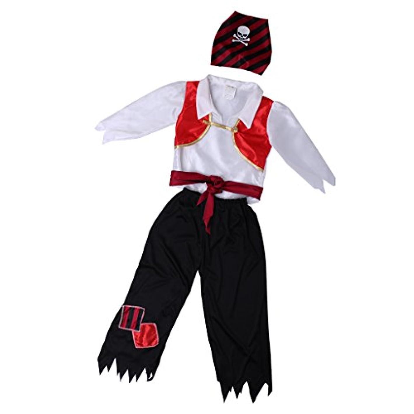 エイズピース治安判事SONONIA ボーイ ハロウィン リトル パイレーツ ファンシー ドレス ブックウィーク コスチューム アウトフィット 全3サイズ - XL