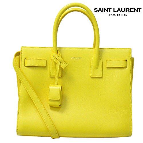 SAINT LAURENT PARIS(サンローランパリ) 2WAYハンドバッグ『CLASSIC BABY SAC DE JOUR/クラシック ベイビー サック・ド・ジュール』(7120JAUNE/イエロー) [並行輸入品]