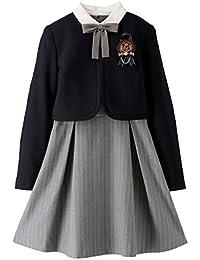 Catherine Cottage 卒業式 発表会 白襟ワンピース&ボレロ 女の子 スーツ 子供服 フォーマル TK1121