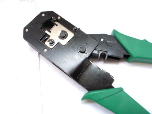 LANケーブル コネクタ かしめ モジュラー圧着工具 圧着 工具 4P/6P/8P兼用 圧着 LAN