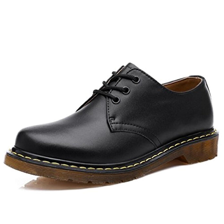 違法コットン援助William ブラック メンズ ビジネスシューズ 革靴 紳士靴 防水 防滑 靴 スニーカー 通勤 レースアップ 軽量