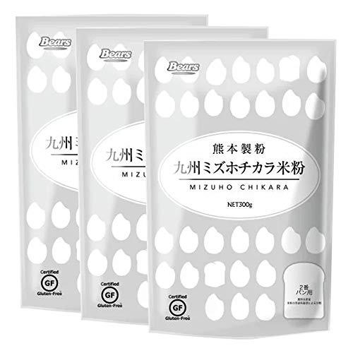 九州ミズホチカラ米粉 300g 3個セット グルテンフリー 米粉