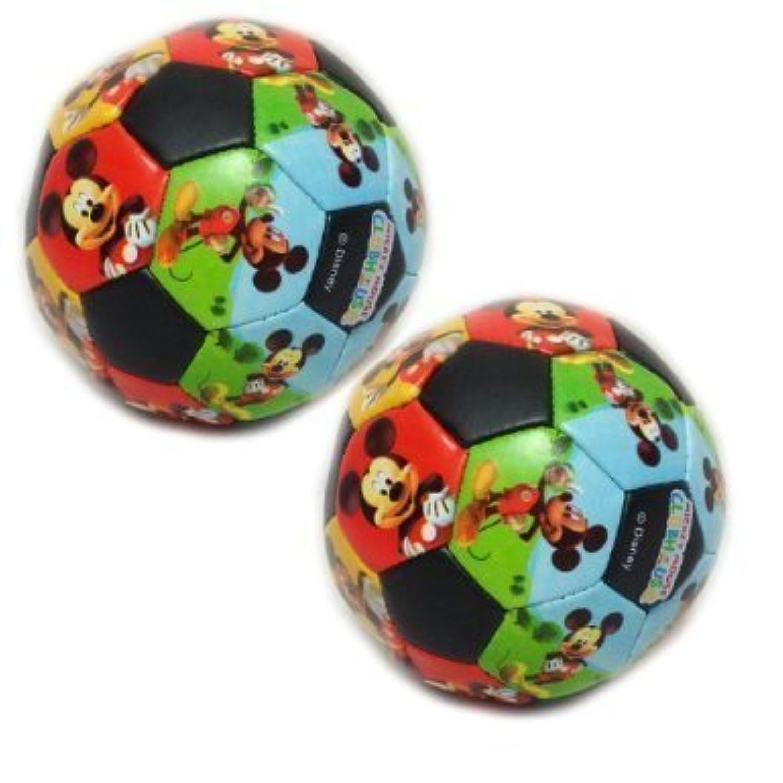 MickeyマウスClubhouseソフトサッカーボールfor Kids /幼児 – 2つのパック[おもちゃ]