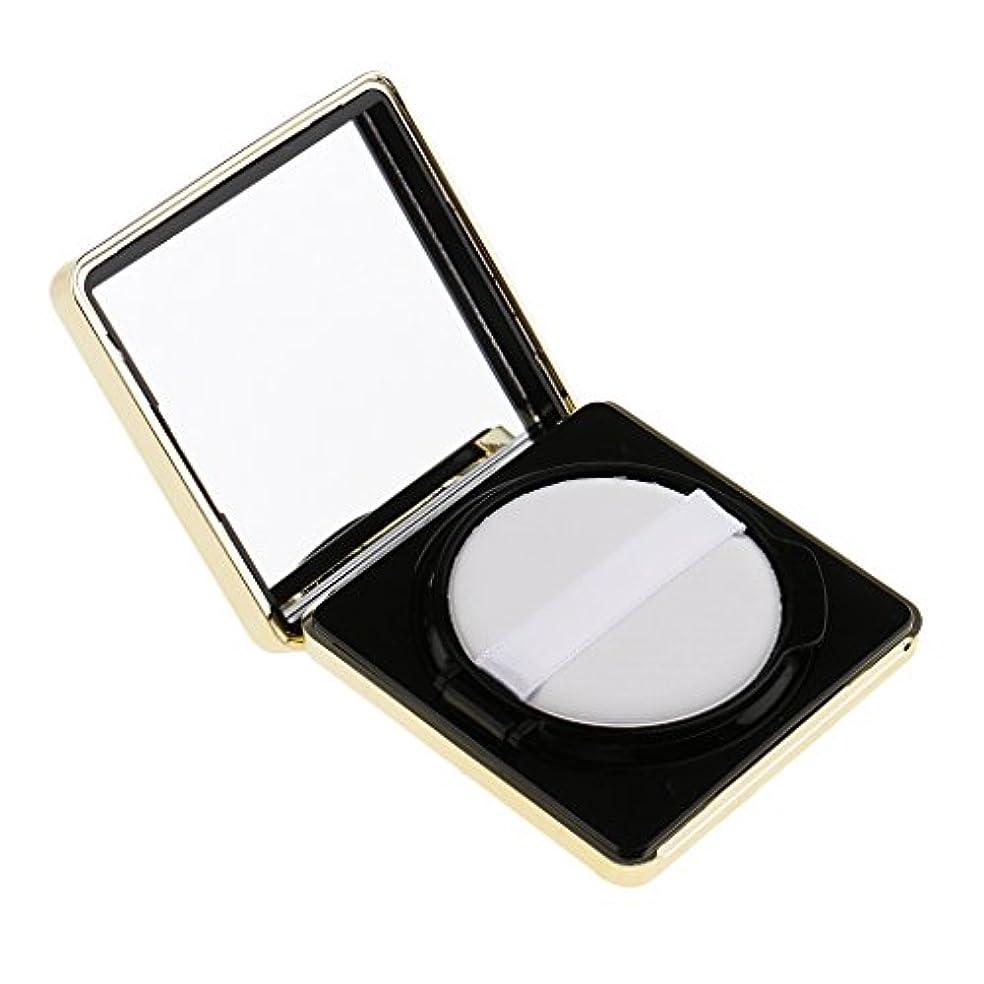 不調和七面鳥示すエアクッションボックス パウダーパフ コスメ パフ 空パレット メイクアップ DIY 化粧品 詰替え 旅行 便利 3色選べる - ブラック