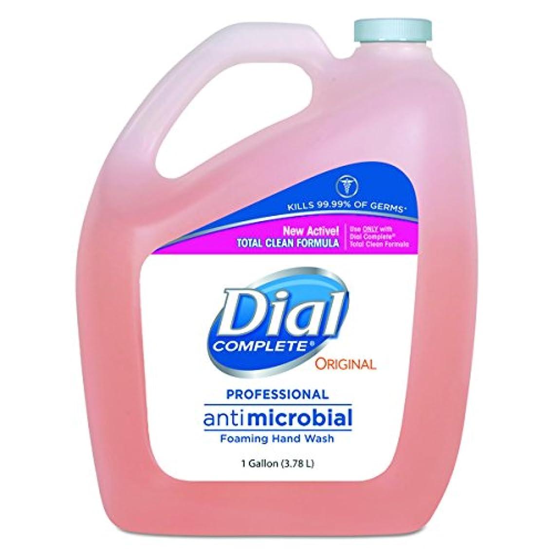 大型トラックあいさつぼんやりしたダイヤルProfessional抗菌Foaming Hand Soap、元香り, 1 gal。、4 /カートン