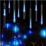 MYJP イルミネーションライト LED クリスマスライト フォールライト PSE認証済み 流星 防水 30CM/本 10本セット (ブルー)