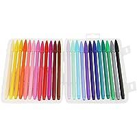 マーカー・蛍光ペン セット ホワイトボード用マーカー 水性マーカー 水性ペン マッキー 0.3mm 極細 水性カラーペン 24色セット