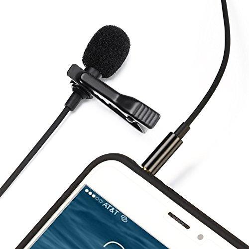 TOQIBO コンデンサーマイク ピンマイク 高音質 マイク スマホ ミニマイク iPhone/Android対応 収納ポーチ