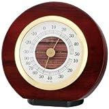 EMPEX(エンペックス) カーサー温・湿度計 TM-724 モダンなデザインと木枠の質感が程よくマッチ [並行輸入品]