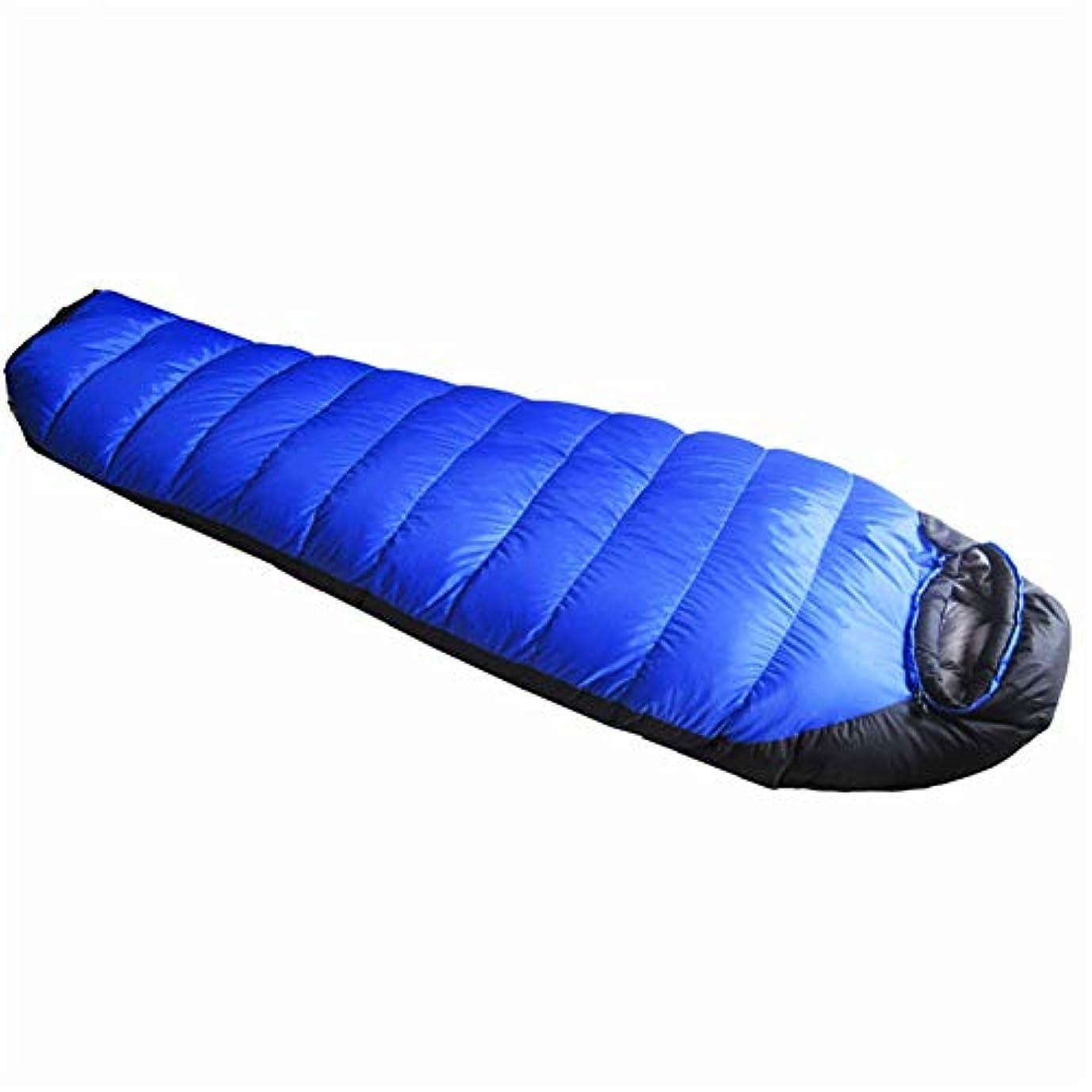 ピケ期待飾る寝袋、大人のミイラ暖かい睡眠袋軽量通気性屋外睡眠袋旅行バックパックテント、ハンモックキャンプ睡眠システム,Blue,1500g
