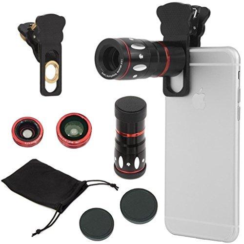ALLUCKER 4in1 カメラレンズキット クリップ式 自...
