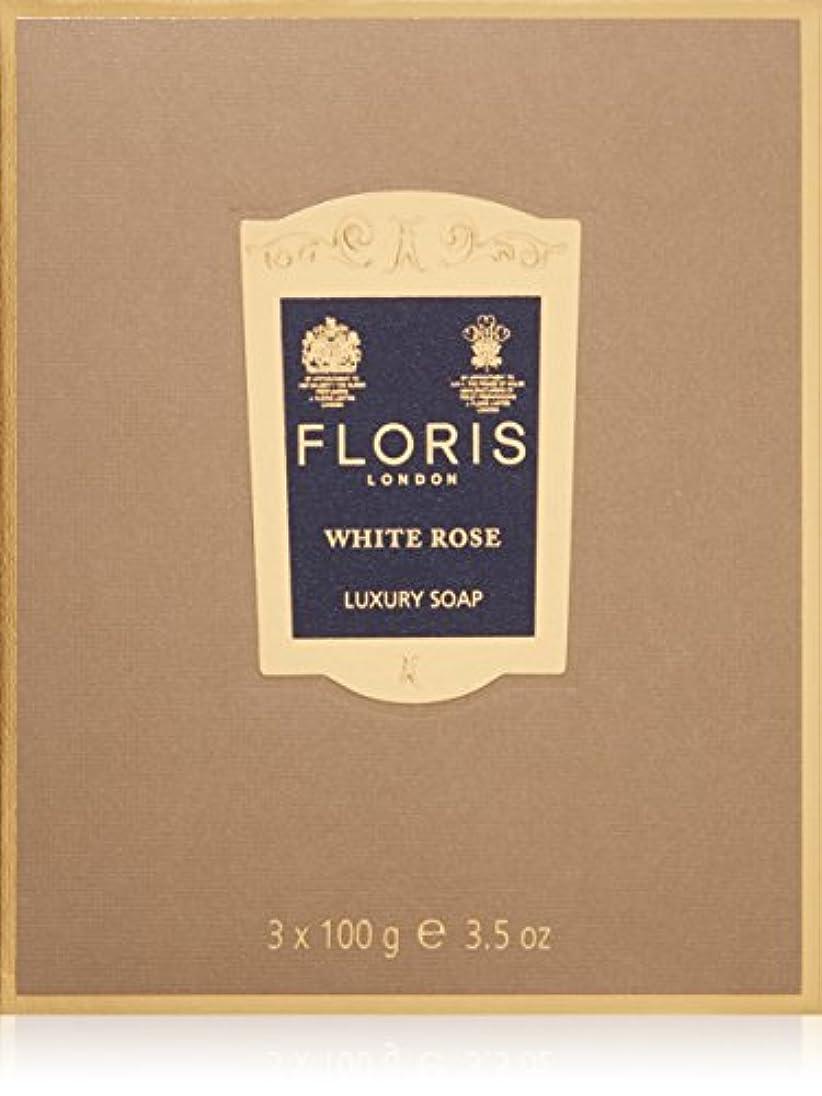 機械黒板呪いフローリス ラグジュアリーソープWR(ホワイトローズ)3x100g/3.5oz
