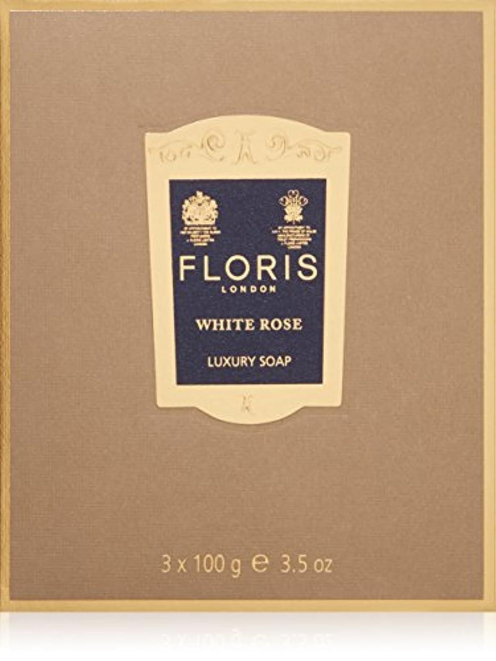勤勉な独立症候群フローリス ラグジュアリーソープWR(ホワイトローズ)3x100g/3.5oz