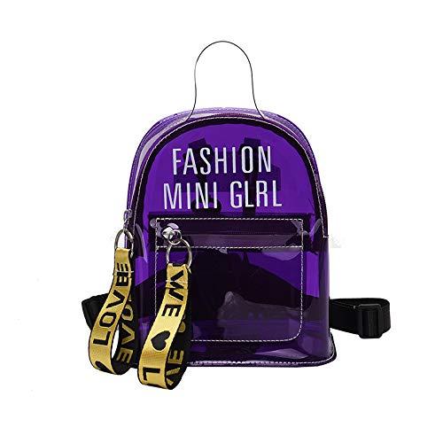ZHAOSHOP バックパック 女性 プラスチック 透明 ゼリー 学生バッグ サマータイド レター ミニバックパック