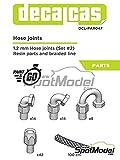 スポットモデル デカールキャス 1.2mmホースジョイントセット2 プラモデル用パーツ DCL-PAR047