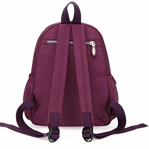 7c6131e8c34a ... バックパック レディース 小さい リュックサック 超軽量 ガールズ ナイロン ショルダーバッグ Purple ...