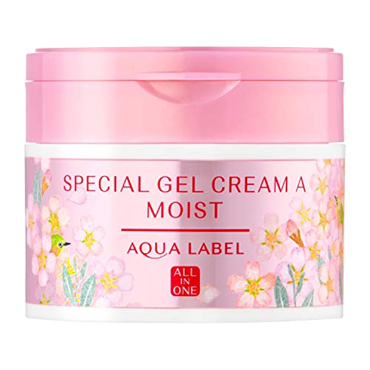ふさわしい処方常習者AQUALABEL(アクアレーベル) アクアレーベル スペシャルジェルクリームA (モイスト) 桜の香り 単品 本体(桜の香り)90g