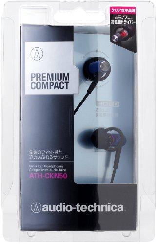 audio-technica PREMIUM COMPACT カナル型イヤホン ブルー ATH-CKN50 BL