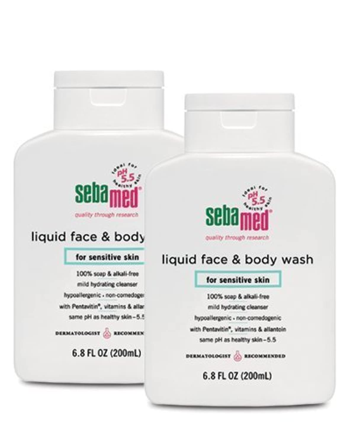 やけど最大化するさびたSebamed Face and Body Wash, 6.8 Fluid Ounce Bottle by Sebamed [並行輸入品]