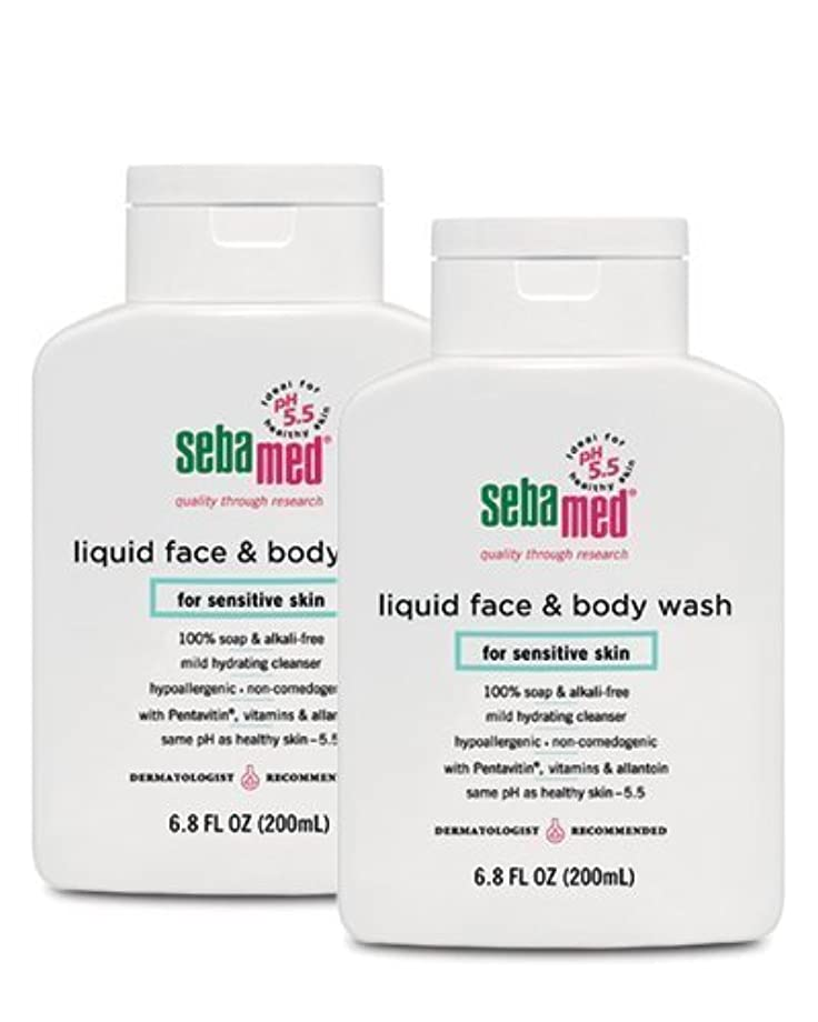ペフ希望に満ちた余計なSebamed Face and Body Wash, 6.8 Fluid Ounce Bottle by Sebamed [並行輸入品]