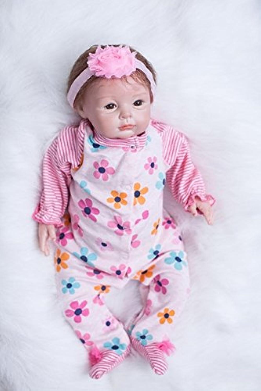 Sweet LifelikeベビーガールReborn 22インチ新生児シリコン赤ちゃん人形プリンセスGirls Toy With Flowers Clothing子供誕生日ギフト
