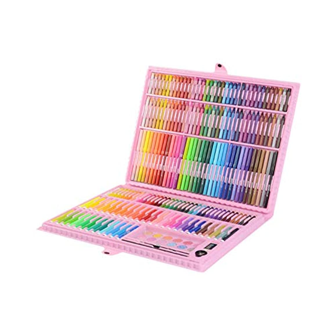 アドバイス時々時々踏みつけAishanghuayi001 ペイントブラシ、学生用ブラシセット202色の36色塗装セット、環境にやさしい素材を使用して練習用の塗装セットを作成(202個36色、39 * 5 * 29cm) 安全と環境保護 (Color : Pink, Size : 39*5*29cm)