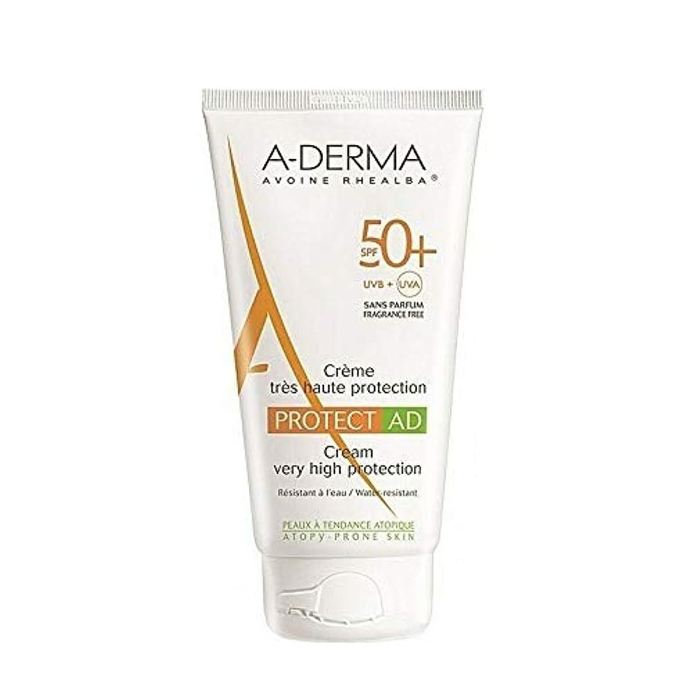 ダウンタウン落胆させる事前A-DERMA Protect AD sun cream サンクリーム (150ml) SPF50+/PA+++ フランス日焼け止め