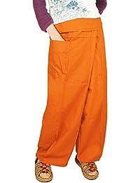 [ceto(チェト)] タイパンツ コットン 無地 ポケット付き ロング丈 メンズ レディース 男女兼用 フィッシャーマンパンツ