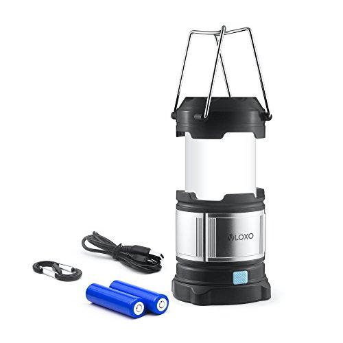VLOXOアルミ製 LED防水ランタン LED作業灯 伸縮式 4種照明モード4000mAhモバイルバッテリー機能 アウトドアライト 懐中電灯 ポータブル式 非常時用 (一個セット) (二個)
