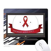 hivは12月1日にレッドリボンエイズの日 ノンスリップラバーマウスパッドはコンピュータゲームのオフィス