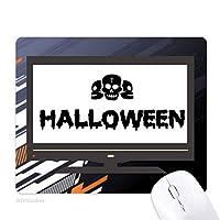 幸せな幽霊の恐怖のハロウィーンの頭蓋骨 ノンスリップラバーマウスパッドはコンピュータゲームのオフィス