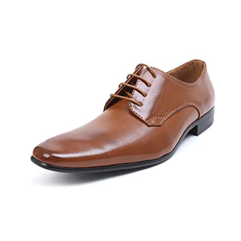 [エムエムワン] MM/ONE ビジネスシューズ メンズ 紳士靴 プレーントゥ レースアップ PU革靴