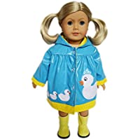 My Brittany's Blue Ducky Raincoat With Boots for American Girl Dolls
