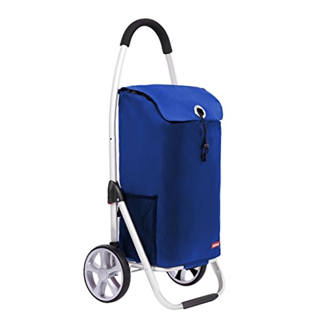 コードレス無視札入れJTWJ ショッピングカートトロリーポータブル折りたたみ車33L容量ブルー100x46x35.5cm