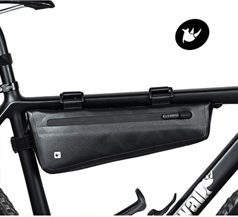精査今晩ストレッチRhinowalk 自転車 トップチューブバッグ フロントバッグ フレームバッグ サドルバッグ 防水 軽量 大容量 収納アクセサリー ブラック