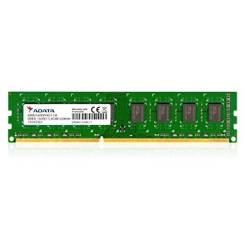 A-DATA メモリ 4GB DDR3L Low Voltage U-DIMM  1600  -512x8 リテールパッケージ ADDU1600W4G11-R