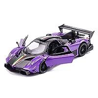 KTYXGKL 車のモデル1:32パガーニゾンダシミュレーション合金ダイカスト玩具装飾品スポーツカーコレクションジュエリー15.5×6.5×4センチ Model car (Color : Purple)