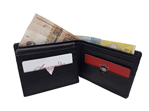 MW-1803 Black Diamond Men's Wallet| 16 Card Stores |2 Slide Pockets |2 Cash Layers |Black Cow Napa Leather.
