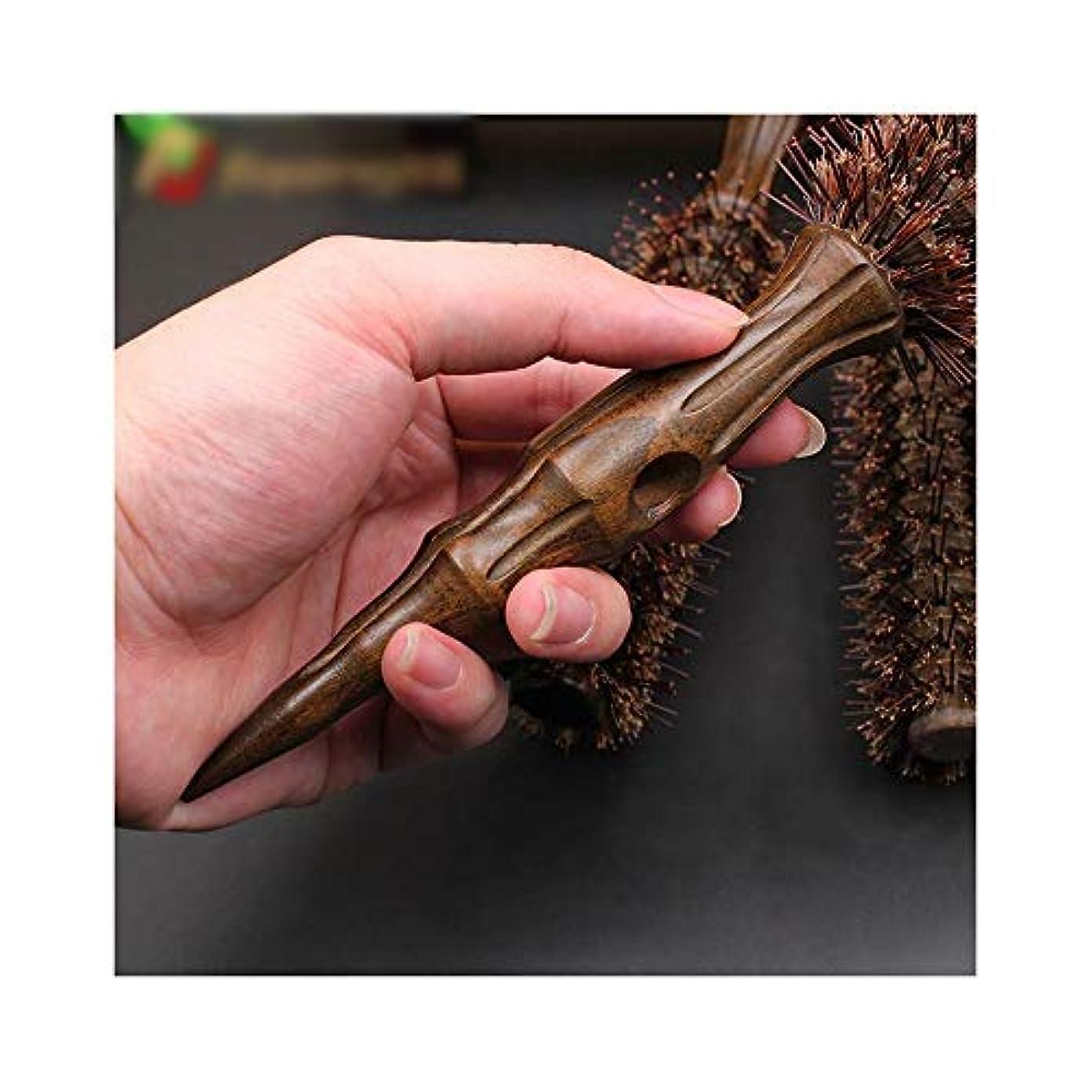 債権者特殊ジャーナルWASAIO ヘアブラシ高品質カーリーヘアコーム、帯電防止ウッドハンドルローリングブラシ (サイズ : M)