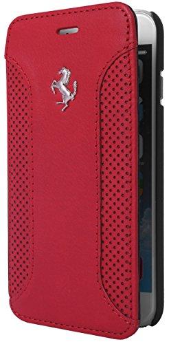 エアージェイ フェラーリ(FERRARI ) 公式ライセンス品 iPhone6 4.7インチ専用 本革手帳型ケースF12  レッド FEF12FLBKP6RE
