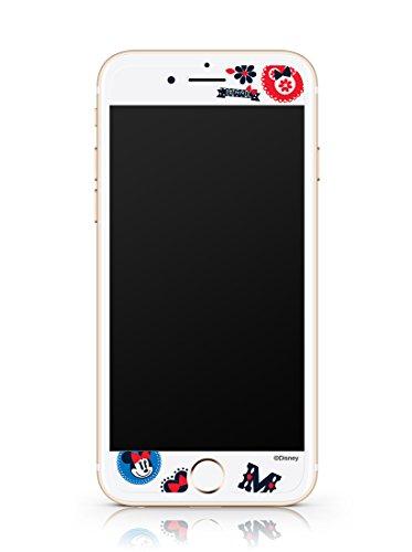 Disney ART TEMPERED GLASS ディズニーアート強化ガラス ミッキーマウス&フレンズ(ミニーマウス)/アイフォンiPhoneスマホ保護ガラス、硬度9Hキズスクラッチ防止、0.33mmラウンドエッジ、強化ガラスへ直接キャラクター印刷、フルカラー2880dpi印刷、高鮮明、快適パーフェクトタッチ、飛散防止、指紋防止、水はじきコーティング (iPhone 6/6s)
