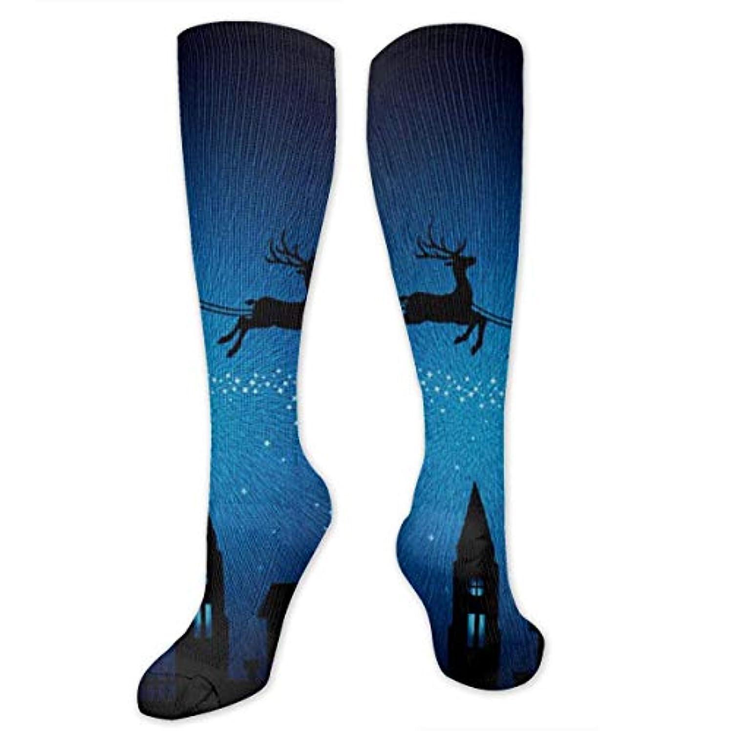 変装小道錆び靴下,ストッキング,野生のジョーカー,実際,秋の本質,冬必須,サマーウェア&RBXAA Seasons Santa Sleigh Xmas Socks Women's Winter Cotton Long Tube Socks...